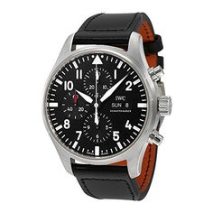 IWC Pilot Black Automatic Chronograph Mens Watch IW377709 by IWC -- Awesome products selected by Anna Churchill