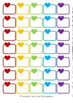 Lorelei Lee's Plan-Bar: Valentine's Day is coming - Herzerlboxen und Labels To Do Planner, Free Planner, Planner Pages, Happy Planner, Best Planners, Day Planners, Printable Planner Stickers, Planner Organization, Erin Condren