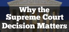 Here is why I think the Supreme Court decision on Gay Marriage matters to the church.