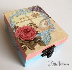 Wooden jewelry box Elegant gift . decoupage box shabby от ArtDidi