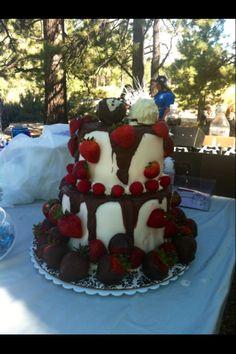 Chocolate Covered Wedding Cake