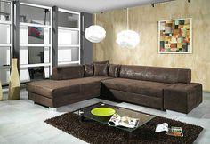 Sofa Couchgarnitur Schlafsofa OSCAR mit Schlaffunktion, Wohnlandschaft