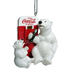 Authentic Coca Cola Coke Polar Bear Vendor Machine Christmas Ornament New w Tags Vintage Coca Cola, Coca Cola Store, Pop Drink, Christmas Village Accessories, Best Soda, Cocoa Cola, Coca Cola Polar Bear, Coca Cola Christmas, Always Coca Cola
