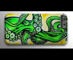 Octopus Phone Case  iPhone 6 Case  iPhone 4 Case  by SAXONLYNN #phonecase #customcase #octopus
