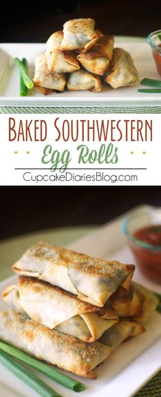 Baked Southwestern Egg Rolls - These egg rolls taste like they came out of a restaurant. And they're so easy!