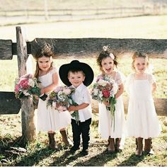 Country cuties for the wedding!