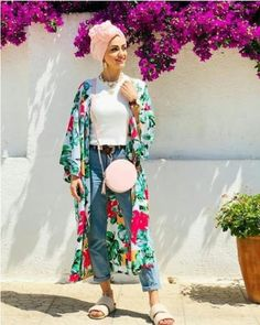 Cute hijab outfits for summer vacations – Hijab Fashion 2020 Summer Outfits For Teens, Casual Summer Outfits, Hijab Fashion Summer, Fashion Outfits, Spring Fashion, Smart Casual Outfit, Mode Hijab, Vacation Outfits, Hijab Outfit