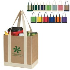 Promotional NonWoven Two-Tone Shopper Tote Bag | Customized Tote Bags | Promotional Tote Bags