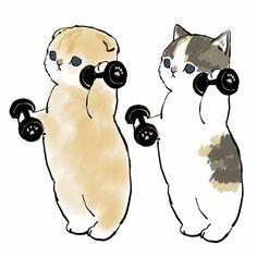 Ciao, Salut — par Mofusand Cute Cat Drawing, Cute Animal Drawings, Cute Drawings, Tatoo Dog, Dibujos Cute, Pretty Art, Crazy Cats, Cat Art, Art And Illustration
