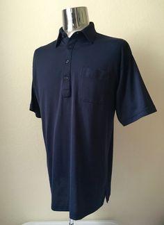 Vintage Men's 80's Norm Thompson, Polo Shirt, Navy Blue, Short Sleeve (XL) by Freshandswanky on Etsy
