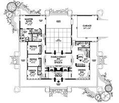 Prairie Style House Plan - 3 Beds 2.5 Baths 2626 Sq/Ft Plan #72-153 Main Floor Plan - Houseplans.com