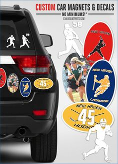 Show your love for the game on the road! Personalized car magnets with no minimums! ChalkTalkSPORTS.com!