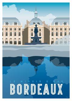 Bordeaux le Miroir d'eau www.lesaffichistes.com