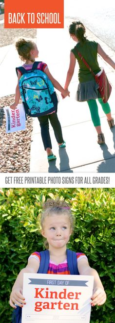 Free First Day Of School Photo Signs Printable for Every Grade! #backtoschool #back2school