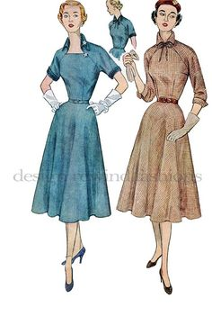 1950s Simplicity 3689 Dress with Pointed by DesignRewindFashions, $20.00