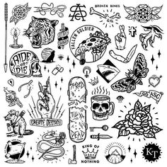 Here is a collection of the elements I used for the mural at Mermaid Beach. Such a fun project. Here is a collection of the elements I used for the mural at Mermaid Beach. Such a fun project. Kritzelei Tattoo, Tattoo Bein, Doodle Tattoo, Piercing Tattoo, Piercings, Flash Art Tattoos, Body Art Tattoos, Small Tattoos, Arabic Tattoos