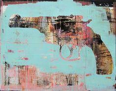 Pierre-Alex. - Technique mixte sur bois  #galeriew #PierreAlex #art #print #gun #wood #artcontemporain #contemopraryart #artgallery #galerieart #artwork