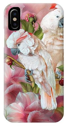 Tropic Spirits - Cockatoos IPhone Case for Sale by Carol Cavalaris Art Phone Cases, Iphone Cases, Cockatoo, Iphone 11, Tropical, Spirit, Prints, Image, I Phone Cases