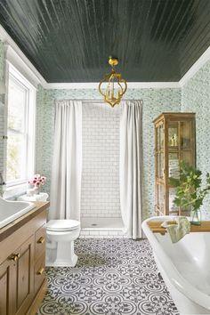 Singer-songwriter Holly Williams' farmhouse bathroom