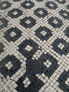 Cobblestones in Açores, Portugal Portugal, Pavement Design, Paving Pattern, Paver Stones, Portuguese Tiles, The Beautiful Country, Outdoor Living Areas, Kitchen Floor, Stone Art