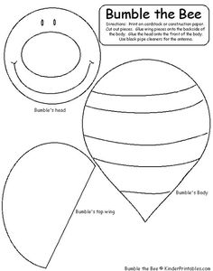 Early Childhood Printables :: Free Learning Materials :: Early Learning Activities :: Pre K - Grade :: Homeschool Resources :: Kinder Printable Learning Materials New Classroom, Classroom Crafts, Classroom Themes, Preschool Activities, Bumble Bee Crafts, Bee Template, Templates, Bee Crafts For Kids, Bee Wings