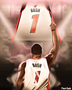 Thank you CB, the game misses you, Miami misses you.but thank you for your amazing years.Forever a legend. Best Nba Players, American Airlines Arena, Chris Bosh, Super Mario Art, Downtown Miami, Sports Art, Miami Heat, Basketball Teams, Miss You