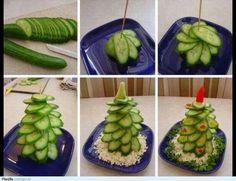 Cucumber Christmas tree