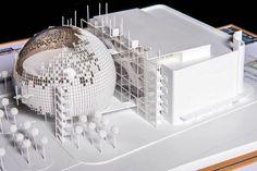 renzo piano + zoltan pali,  maquette, architectural model, maqueta, modulo