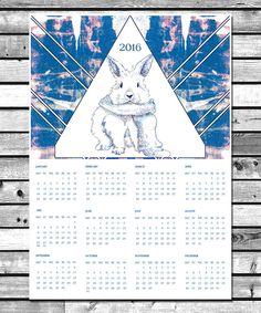 "Calendar 2016 On sale On my Etsy Account ""NaouruPrintable"" Instant Download! :D"
