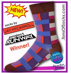 Jay McCarroll Men's Colorblock Socks (Wildberry)