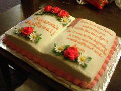Baptismal Bible Cake  on Cake Central