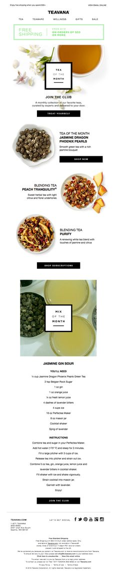 Tea of the Month + Free Shipping - Really Good Emails