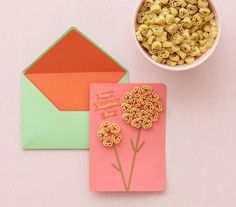 Spread the love this Valentine's Day with homemade cards, sweet decorations, and more kid-friendly DIY crafts. Valentine's Day Crafts For Kids, Valentine Crafts For Kids, Holiday Crafts, Fun Crafts, Creative Crafts, Macaroni Crafts, Pasta Crafts, Valentinstag Party, Pasta Kunst