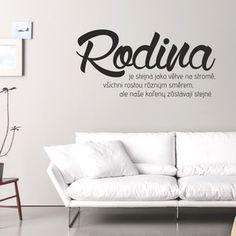 Samolepka na stěnu Rodina, 80x40 cm Rodin, Motto, Nassau, Design, Home Decor, Nova, Board, Christmas, Xmas