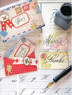 Lovely letters and cards with the most beautiful calligraphy by Brenda Walton