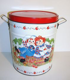 HUGE Raggedy Ann And Andy Collectible Popcorn by MODernThrowBack, $16.50