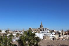 Panorama from Torre del Oro tower. .Sevilla. Spain