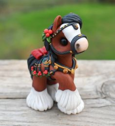 Genuine and original polymer clay sculpture designed and handmade with love by Elisabete Santos Polymer Clay Figures, Polymer Clay Sculptures, Polymer Clay Animals, Polymer Clay Projects, Polymer Clay Creations, Sculpture Clay, Clay Crafts, Horse Sculpture, Polymer Clay Kawaii