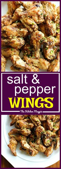 The most amazing Salt and Pepper Chicken Wings I have ever made. The ingredients are simple, delicious & in your fridge! Check out my photos & instructions! recipe from @kitchenmagpie