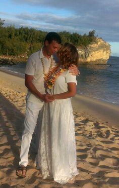 What a beautiful picture on our home island of Kauai, Hawaii! - Get married on Shipwrecks Beach!