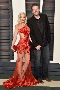 Gwen Stefani and Blake Shelton at Vanity Fair's Oscars Afterparty, 2016