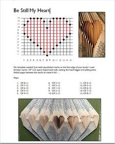 Book folding heart pattern