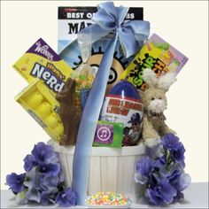 Cool Dude: Easter Gift Basket Tween Boys Ages 10 to 13 Years Old, Gourmet & Artisan Foods :: Gift Boxes & Baskets :: Bullszi.com