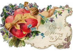 Antique Victorian Valentine Card