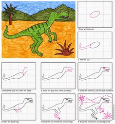 Art Projects for Kids: Draw a Velociraptor