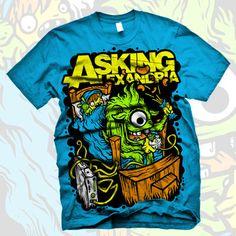 Asking Alexandria - Sleep Over Shirt (Sapphire)