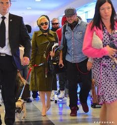 Pin for Later: Lady Gaga and Taylor Kinney Touch Down in NYC With Their Adorable Pup