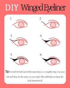 5 Ways To Do Up A Winged Eye Liner **with inspiration**   the perfect line