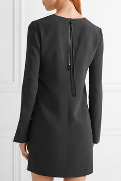 Charcoal stretch-jersey Zip fastening along back 64% viscose, 33% acetate, 3%…