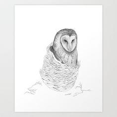 The Owl - Tangled Art Print by Jess Polanshek - $18.00